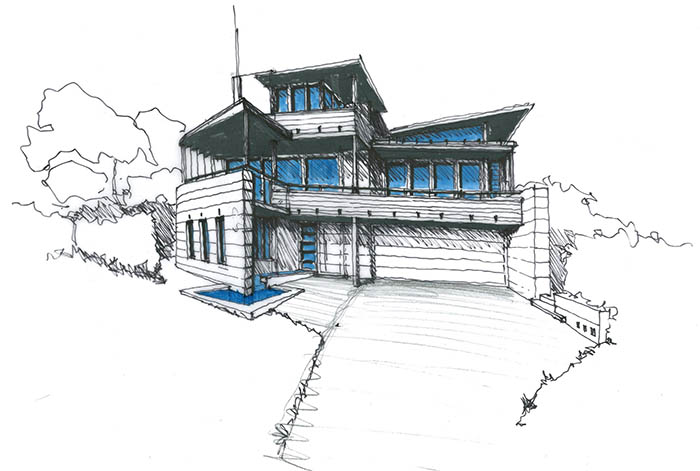 Mona Vale Residence - Perspective Drawing