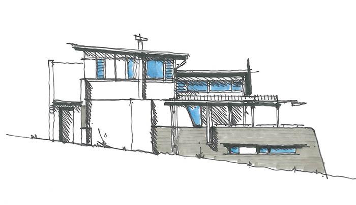 Newport residence drawing