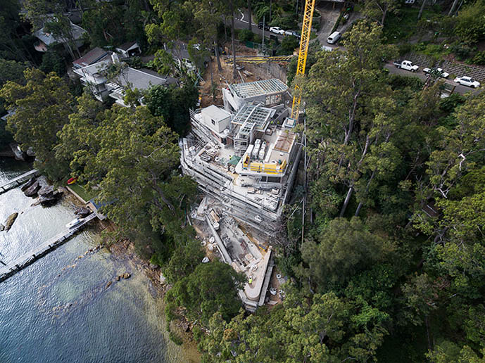 Avalon Residence - View from above 2 - Build