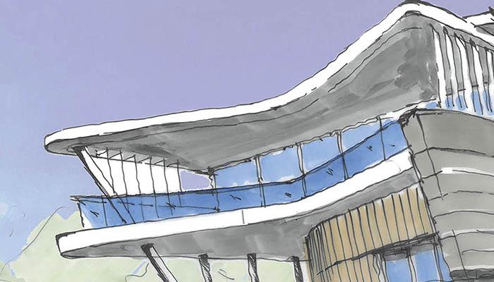 Mitala Newport - Sketch of roof line
