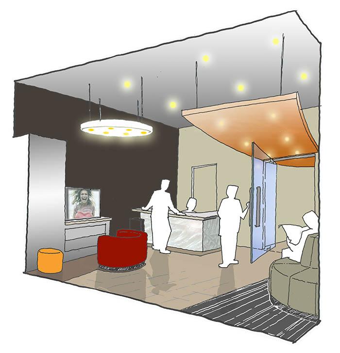 Hurstville Dental - Interior Drawing